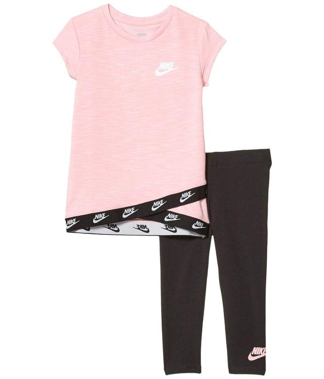 KIDS Short Sleeve Logo Trim T-Shirt & Leggings Two-Piece Set (Toddler). By Nike Kids. 42.00. Style Black.