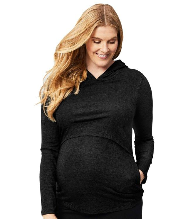 Women's Long Sleeve Maternity and Nursing Winter Hoodie. By Cake Maternity. 78.00. Style Black.
