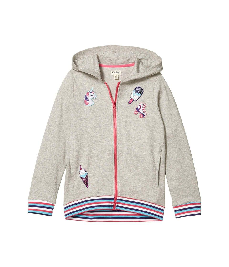 Girl's Girly Patches Hoodie (Toddler/Little Kids/Big Kids). By Hatley Kids. 42.00. Style Grey.