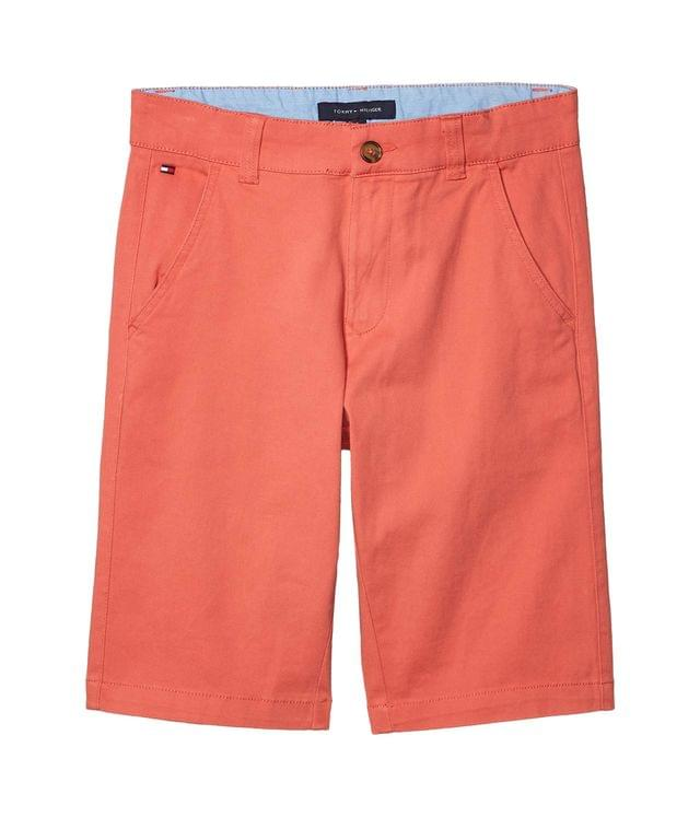 KIDSS Flat Front Twill Shorts (Big Kids). By Tommy Hilfiger Kids. 29.50. Style Spiced Coral.