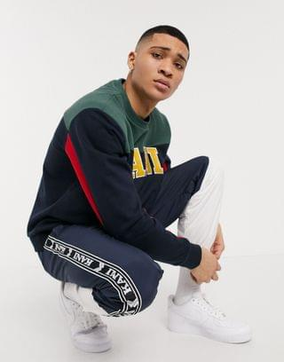 MEN Karl Kani College Block sweatshirt in navy multi