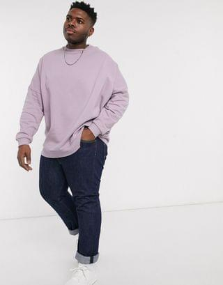 Plus extreme oversized sweatshirt in dusty purple