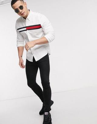 Tommy Hilfiger timothy logo longsleeve shirt in white