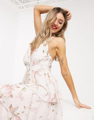 WOMEN Ever New halter neck maxi dress in floral print