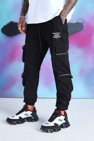 Men's Quavo Cargo Trousers With Zip Pockets