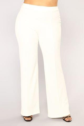 WOMEN Victoria High Waisted Dress Pants - White
