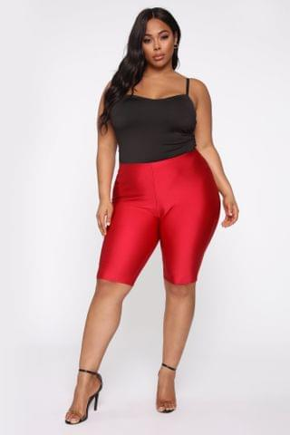 WOMEN Curves For Days Biker Shorts - Red