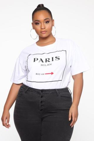 WOMEN Paris For The Summer Tunic Top - White