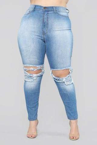 WOMEN One More Time Skinny Jeans - Light Blue Wash