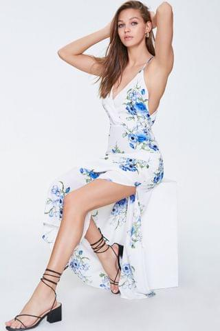 WOMEN Floral Cami Surplice Gown