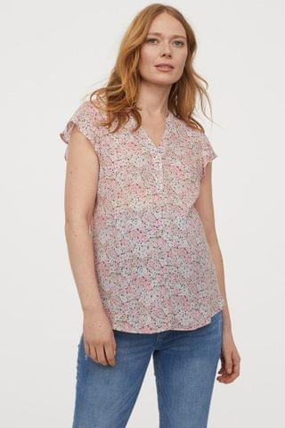 Women's MAMA Patterned Blouse