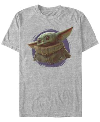 MEN Star Wars The Mandalorian The Child Purple Smoke Short Sleeve Men's T-shirt