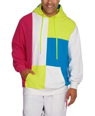 MEN Men's Big Tall Long Sleeve Neon Color-Block Hoodie
