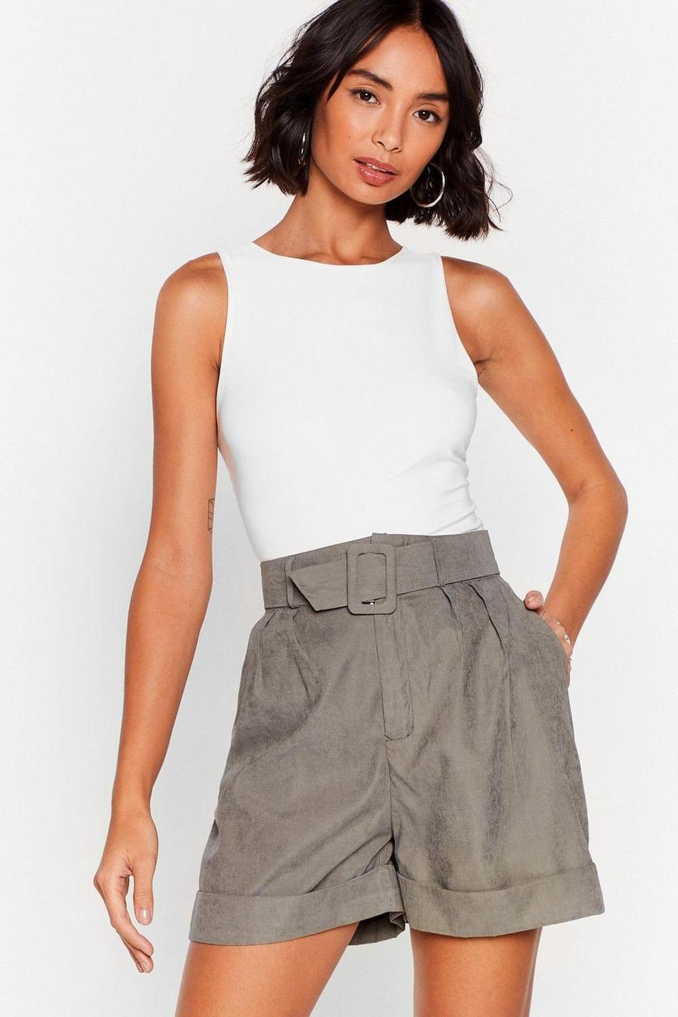 Women's We're Workin' On It Relaxed Belted Shorts
