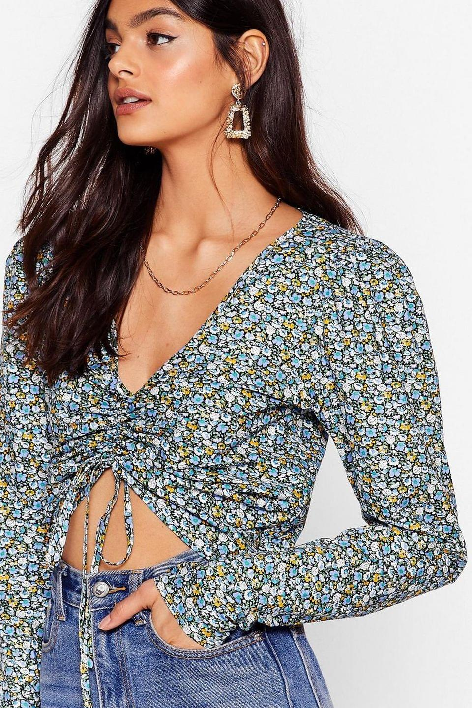 Women's So Darling Floral Ruched Blouse