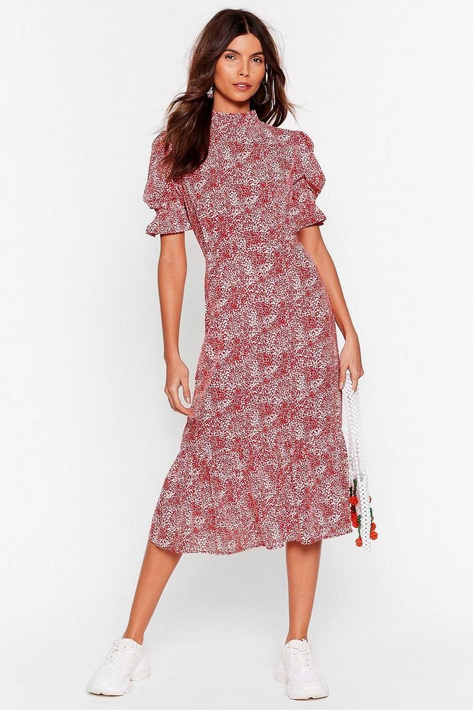 Women's Ready for Golden Hour Floral Midi Dress
