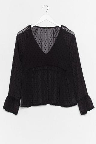 WOMEN Smock to the Top Spotty Sheer Blouse