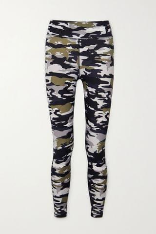 WOMEN THE UPSIDE Camouflage-print stretch leggings