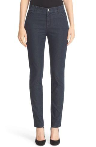 WOMEN Lafayette 148 New York 'Primo Denim' Curvy Fit Slim Leg Jeans