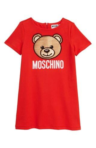 KIDSS Moschino Sequin Bear Logo Dress (Little Girls & Big Girls)