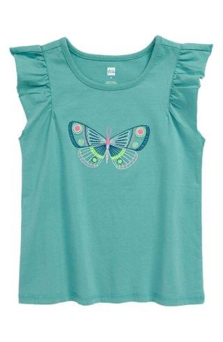 KIDSS Tea Collection Embroidered Butterfly T-Shirt (Toddler, Little Girl & Big Girl)