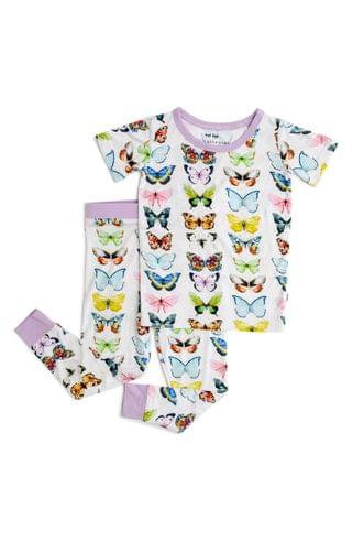 KIDSS Little Sleepies Butterflies Fitted Two-Piece Pajamas (Toddler, Little Girl & Big Girl)