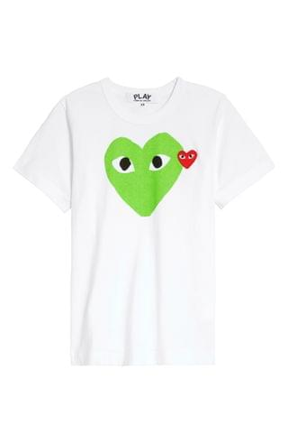 WOMEN Comme des Gar ons PLAY Heart Graphic Tee