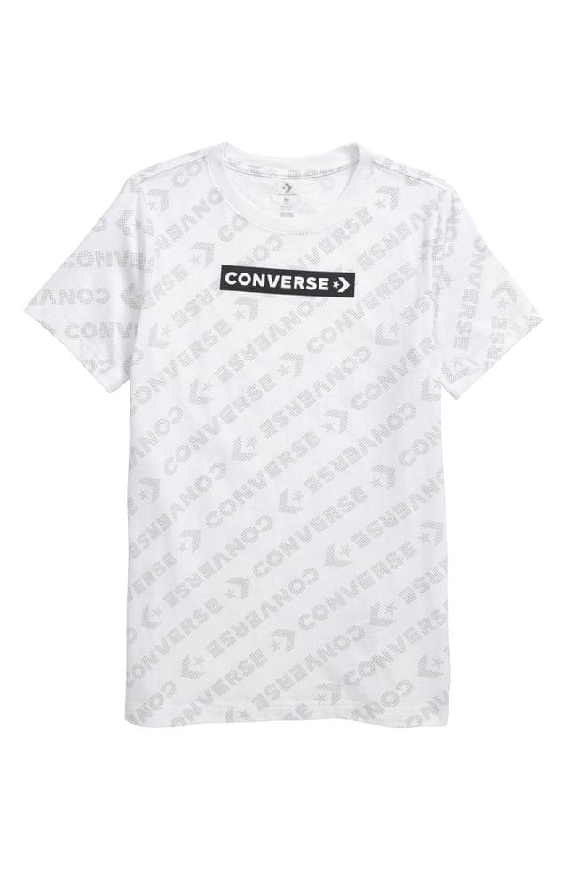 KIDS Converse All Over Logo Graphic Tee (Big Boy)