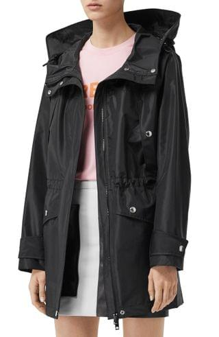 Women's Burberry Whitecraig Hooded Parka with Removable Down Puffer Vest