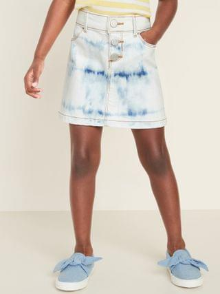 KIDS Faux-Button-Fly Jean Skirt for Toddler Girls