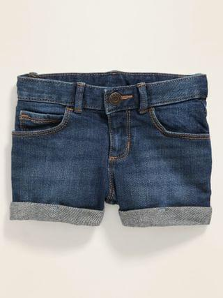KIDS Cuffed Dark-Wash Jean Shorts for Toddler Girls