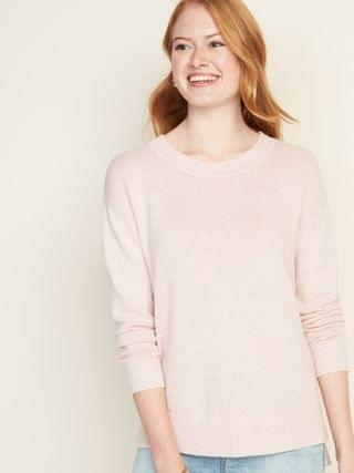 WOMEN Drop-Shoulder Crew-Neck Sweater for Women
