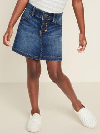 KIDS Button-Fly Jean Skirt for Toddler Girls