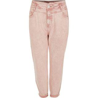 WOMEN Plus pink high rise tapered jeans