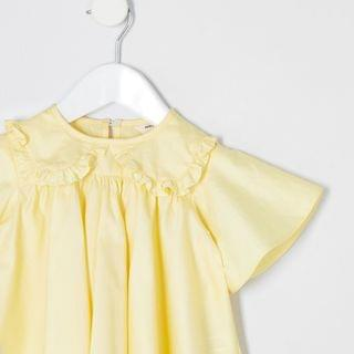 KIDS Mini girls yellow poplin top