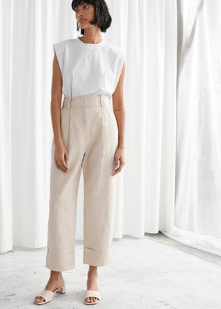 Women's Wide Tailored Trousers