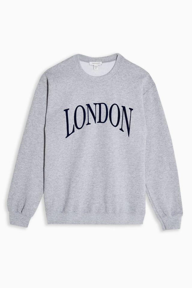 Women's Grey Marl London Sweatshirt