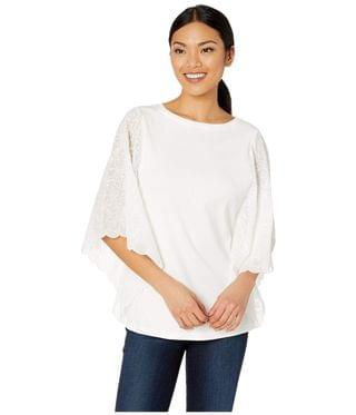 WOMEN Solid Jersey Crew Neck Embroidered Lace Sleeve. By FDJ French Dressing Jeans. 48.60. Style Warmwhite. Rated 4 out of 5 stars.