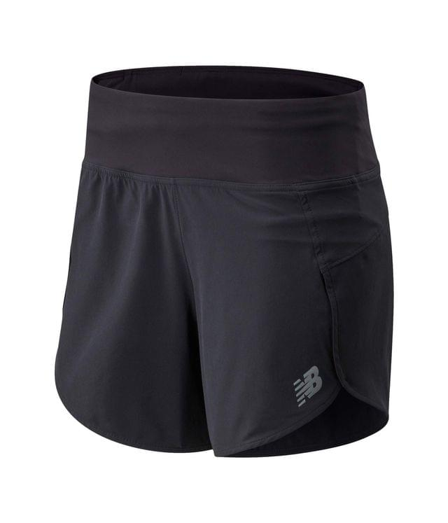 "WOMEN Impact Run Shorts 5"". By New Balance. 55.00. Style Black."