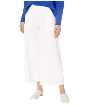 Women's Wide Leg Cropped Pants. By Eileen Fisher. 198.00. Style Ivory.
