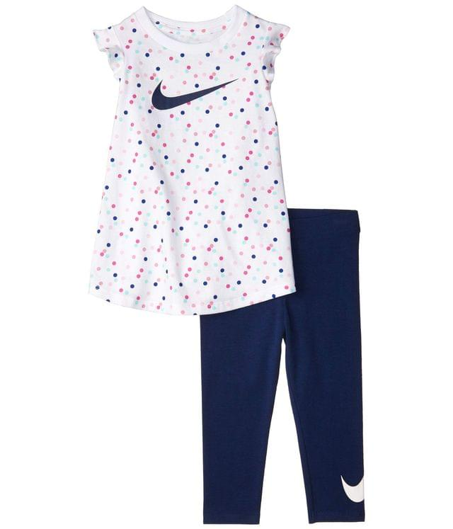 KIDS Short Flutter Sleeve T-Shirt & Leggings Two-Piece Set (Toddler). By Nike Kids. 38.00. Style Blue Void.