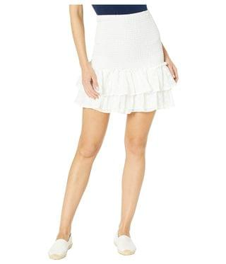 Women's Girl Meets Ruffle Embroidered Chiffon Smocked Mini Skirt. By BB Dakota. 79.00. Style Ivory.