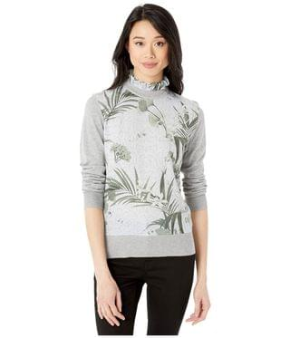 Women's Emally Frill Neck Mockable Jumper. By Ted Baker. 209.00. Style Grey.
