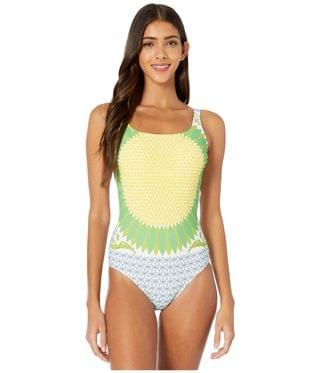 Women's Printed Tank Suit. By Tory Burch Swimwear. 198.00. Style Multi Giverny Engineer.