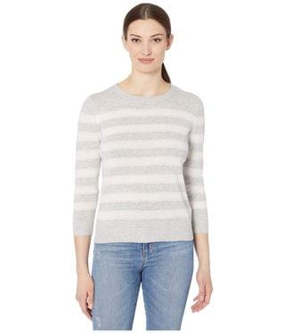 Women's Striped Crew Neck Sweater. By Lilla P. 128.93. Style Lilac Stripe.