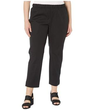 Women's Plus Size Mid-Rise Ankle Pants w/ Slits. By Eileen Fisher. 178.00. Style Black.