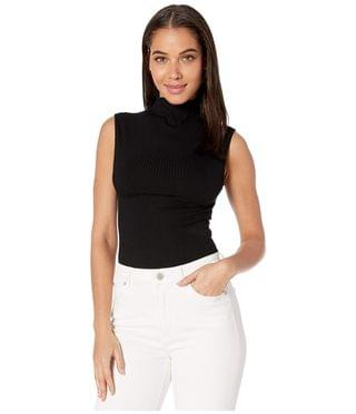 WOMEN Rib Funnel Neck Bodysuit. By Only Hearts. 81.00. Style Black.