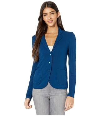 WOMEN French Terry Three-Button Blazer. By Majestic Filatures. 225.18. Style Notte.