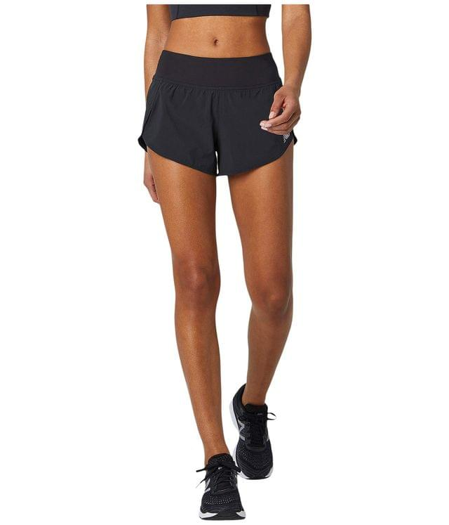 "WOMEN Impact Run Shorts 3"". By New Balance. 45.00. Style Black."