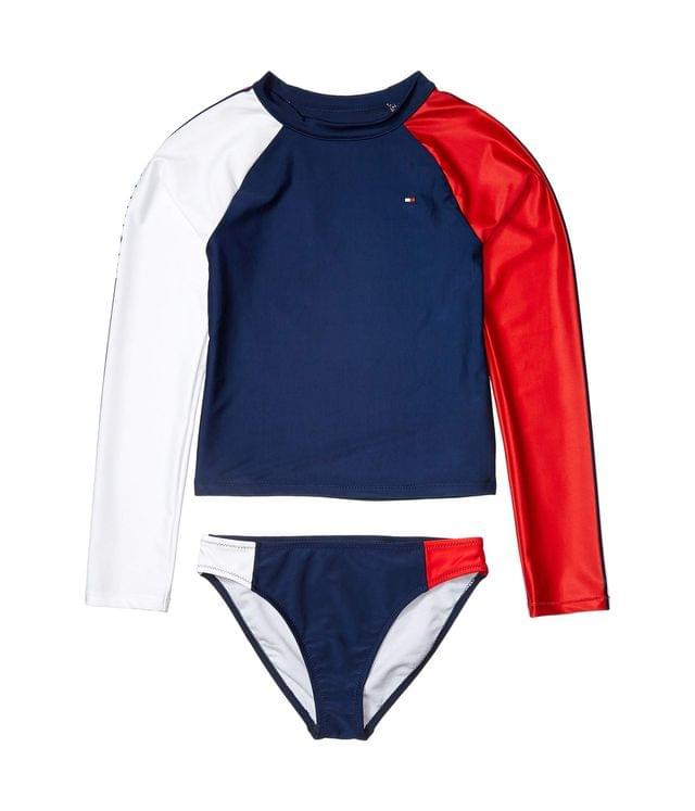 KIDS Color-Block Two-Piece Rashguard Swimsuit (Big Kids). By Tommy Hilfiger Kids. 34.50. Style Flag Blue.